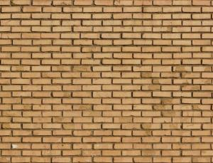 Brick Wall In Beige Color Set Evenly Dark Concrete