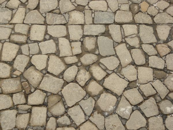 Pavement Texture Consisting Of Stones Various Shapes And Sizes Set