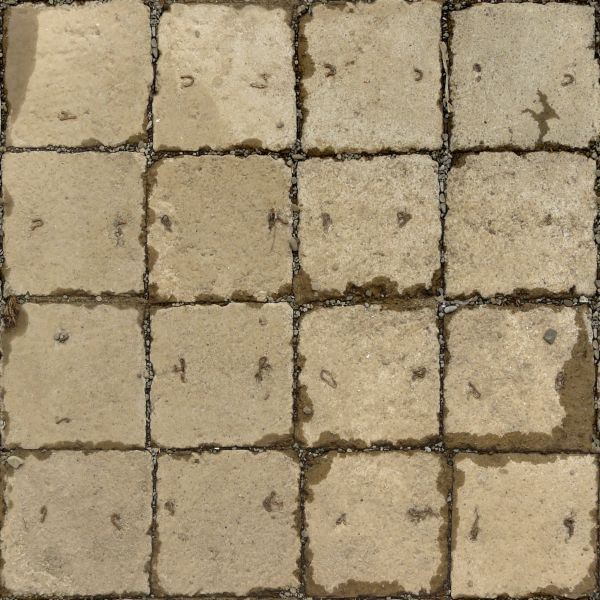 cobblestone floor texture. Seamless Pavement Texture Of Square, Concrete Slabs In Beige Tone With Rough Surface. Cobblestone Floor