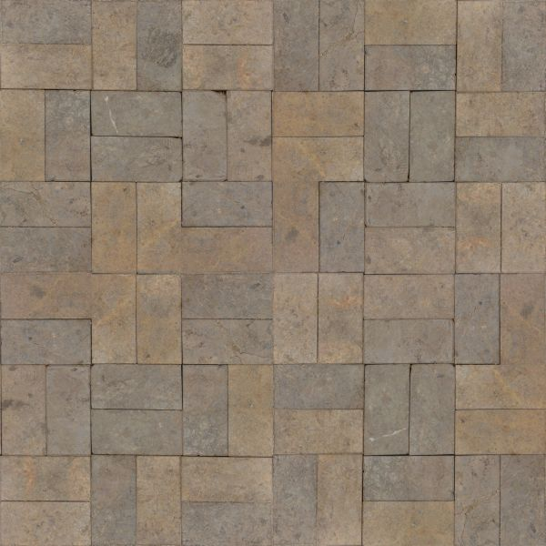 seamless texture of brown rectangular tiles set in repeating patterns