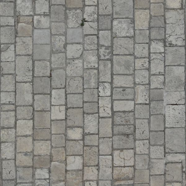 Seamless Pavement Texture Consisting Of Grey Stones Various Shapes With Worn Surface