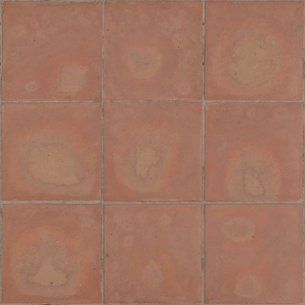 Seamless Texture Of Pale Red Square Pavement Set In Even Pattern