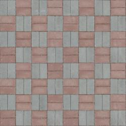 Seamless Texture Of Grey And Red Bricks Set In Even Pattern