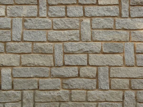 Linearly set grey stone in brown cement. stone wall textures   Texturelib