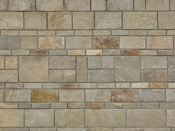 beige stone set evenly in varying patterns