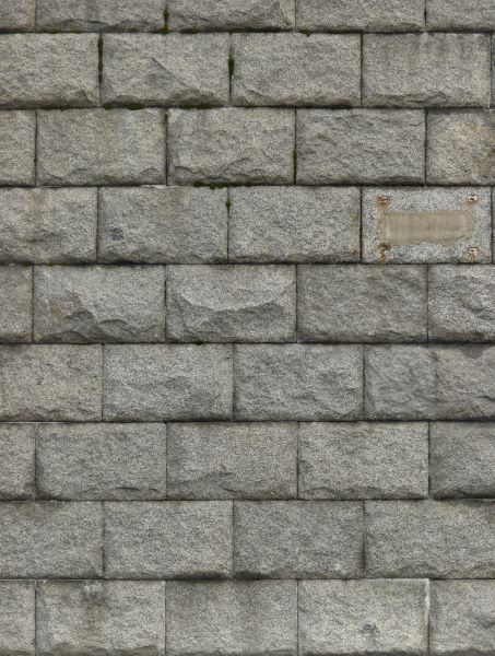 Grey rough stone set consistently in linear fashion but jutting out  irregularly. stone wall textures   Texturelib