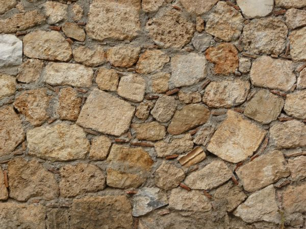 Seamless Stone Texture In Rough Lightbrown Stone Loosely Set In Seedy Concrete Wall Textures Texturelib