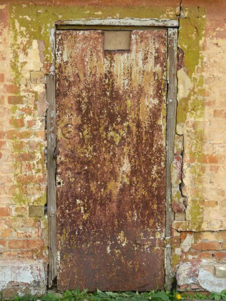 very old metal door 0080 texturelib