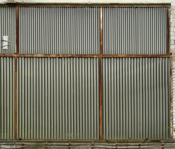 Texture of large aluminum sheets with lined texture in rusting, metal ...