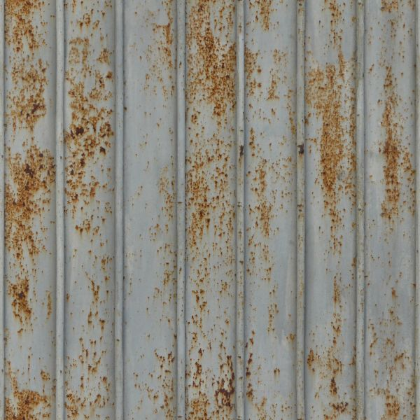 Metal siding with lined texture and very worn  rusting surface. worn seamless metal texture 0090   Texturelib