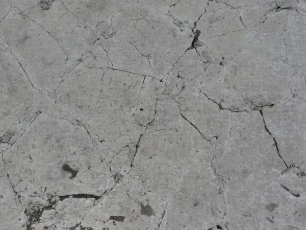 Great Flat Stone Texture In Grey Tone With Thin, Dark Cracks In Surface.
