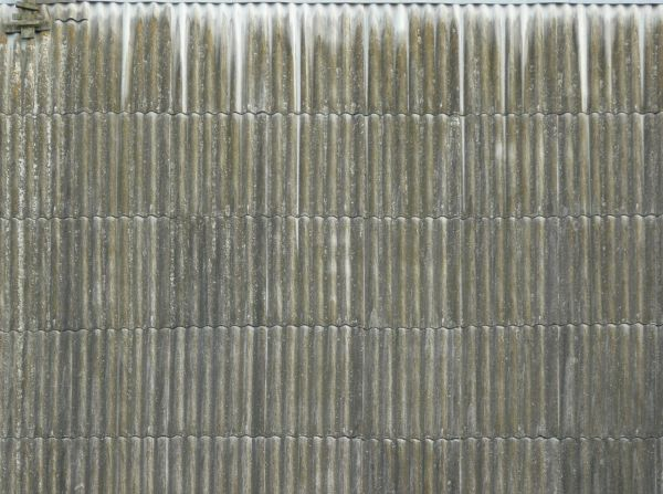 roofing texture of silver sheet metal with wave like surface - Metal Roof Texture