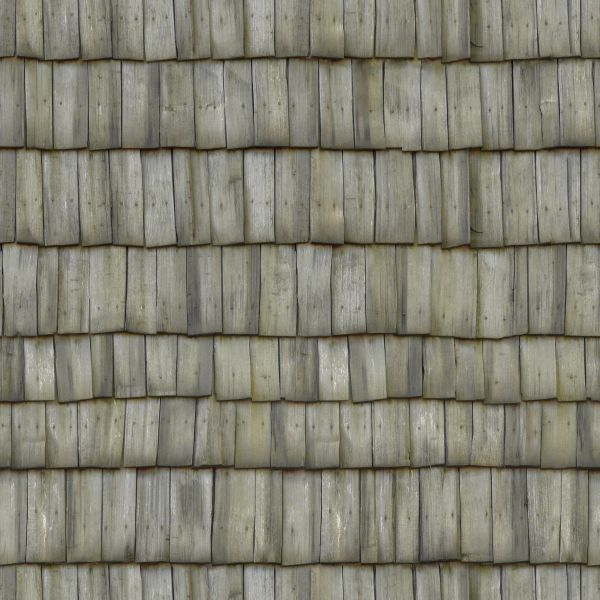 Roofing consisting of gray planks set crookedly.: texturelib.com/texture/?path=/Textures/roof/roof_0065