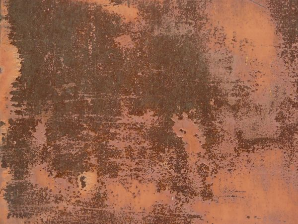 Rusted Metal With Paint
