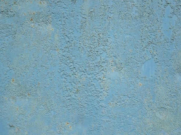 Genial Blue Painted Metal Texture, With A Coarse Surface And Many Small Brown Rust  Spots Visible
