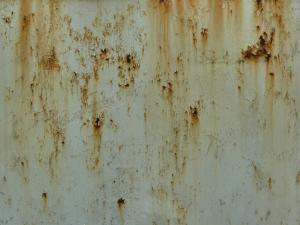 Metal Texture Painted White And With Extensive Scratches Brown Rust Stains Rusted Paint