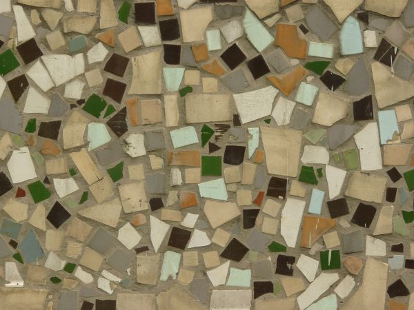 Texture Of Ceramic Tiles In Random Shapes And Colors Set Irregular Formation