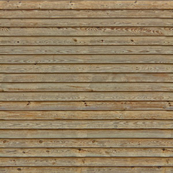 New thin planks in light brown tone set horizontally.