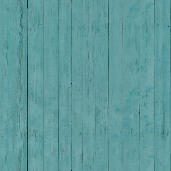 Thin Planks Set Vertically And Painted In Light Blue Color