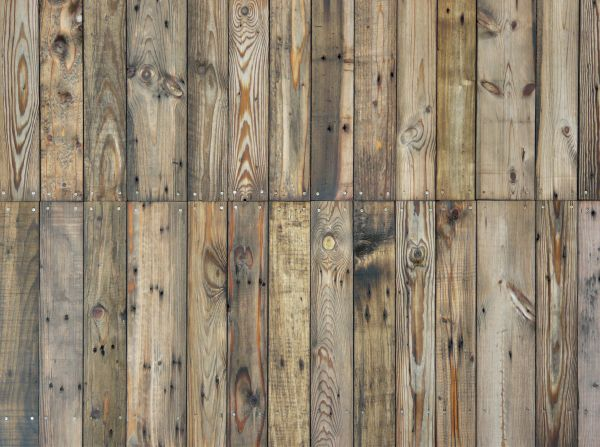 Rustic planks in varying widths and different surface colors and patterns.